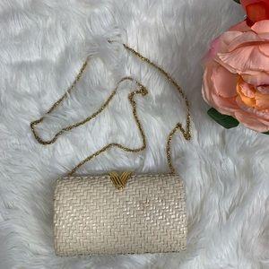 Rodo Vintage Textured Clutch Crossbody Bag